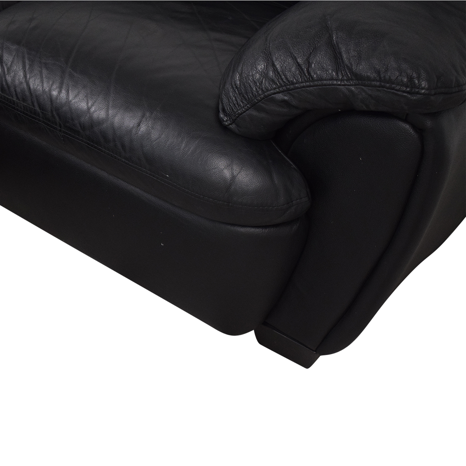 Broyhill Furniture Broyhill Leather Sofa and Ottoman Sofas