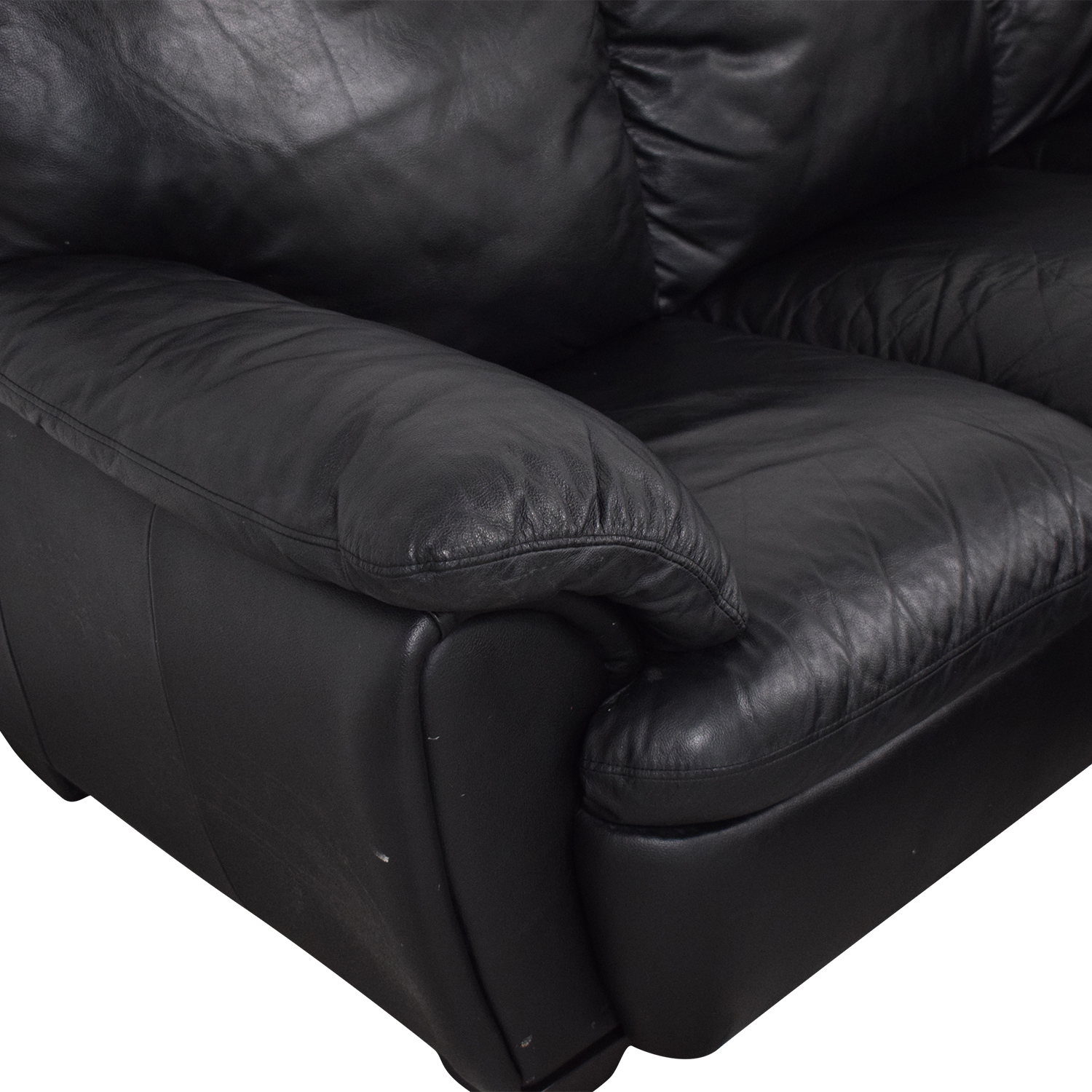 Broyhill Furniture Broyhill Leather Sofa and Ottoman