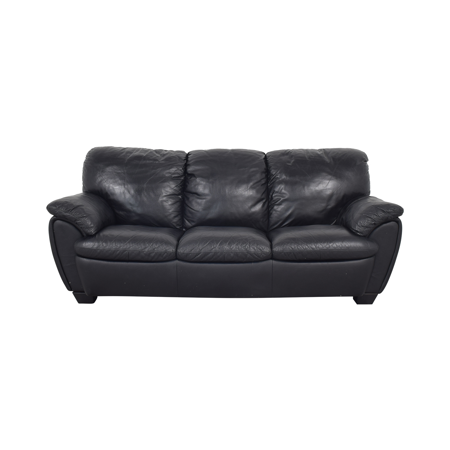 Broyhill Furniture Broyhill Leather Sofa and Ottoman ma