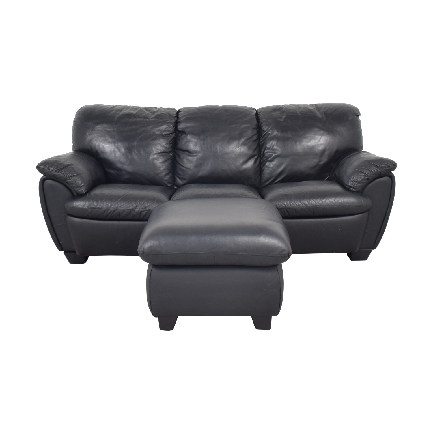 Broyhill Furniture Broyhill Leather Sofa and Ottoman ct