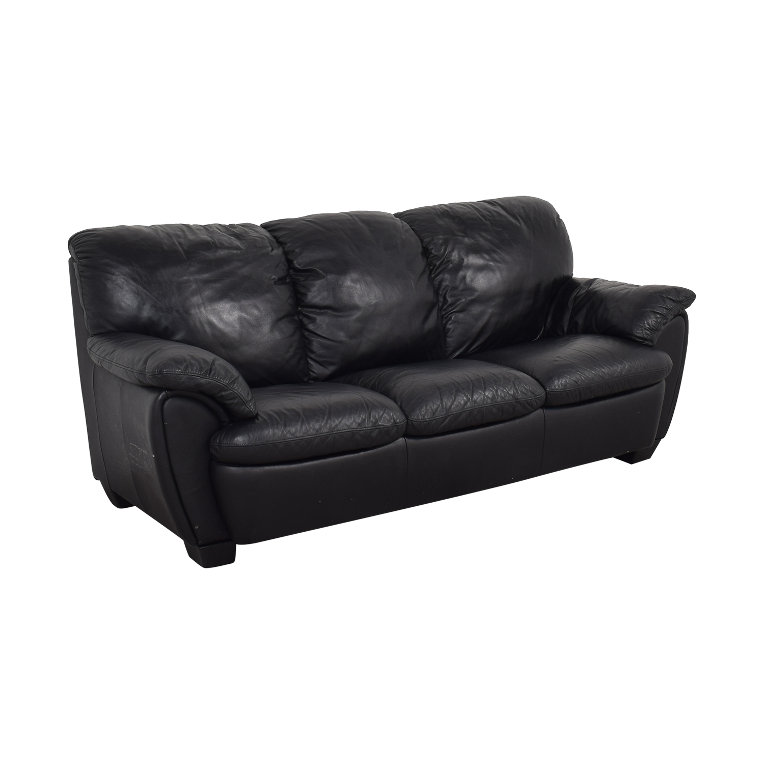 Broyhill Furniture Broyhill Leather Sofa and Ottoman nyc