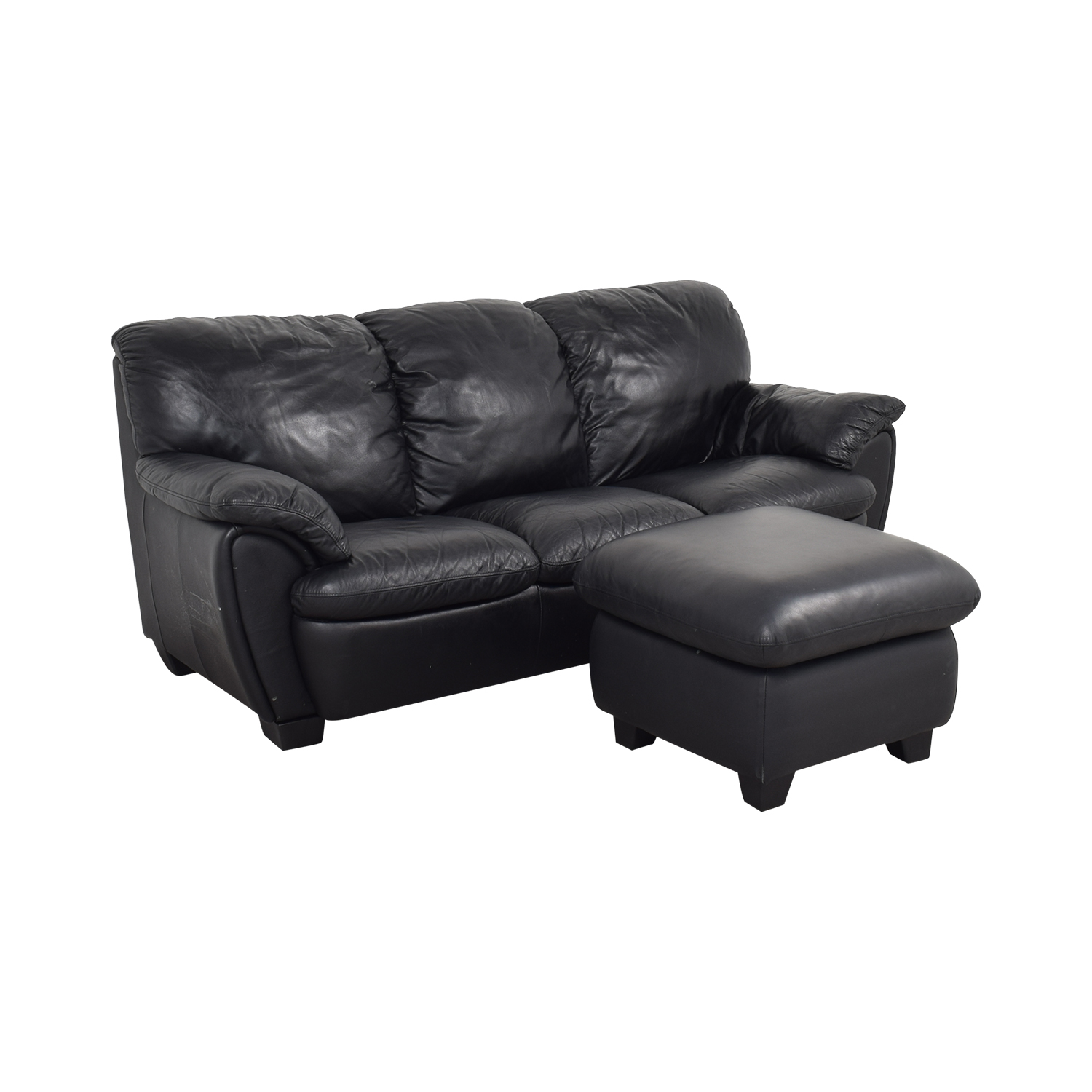 Broyhill Furniture Broyhill Leather Sofa and Ottoman price