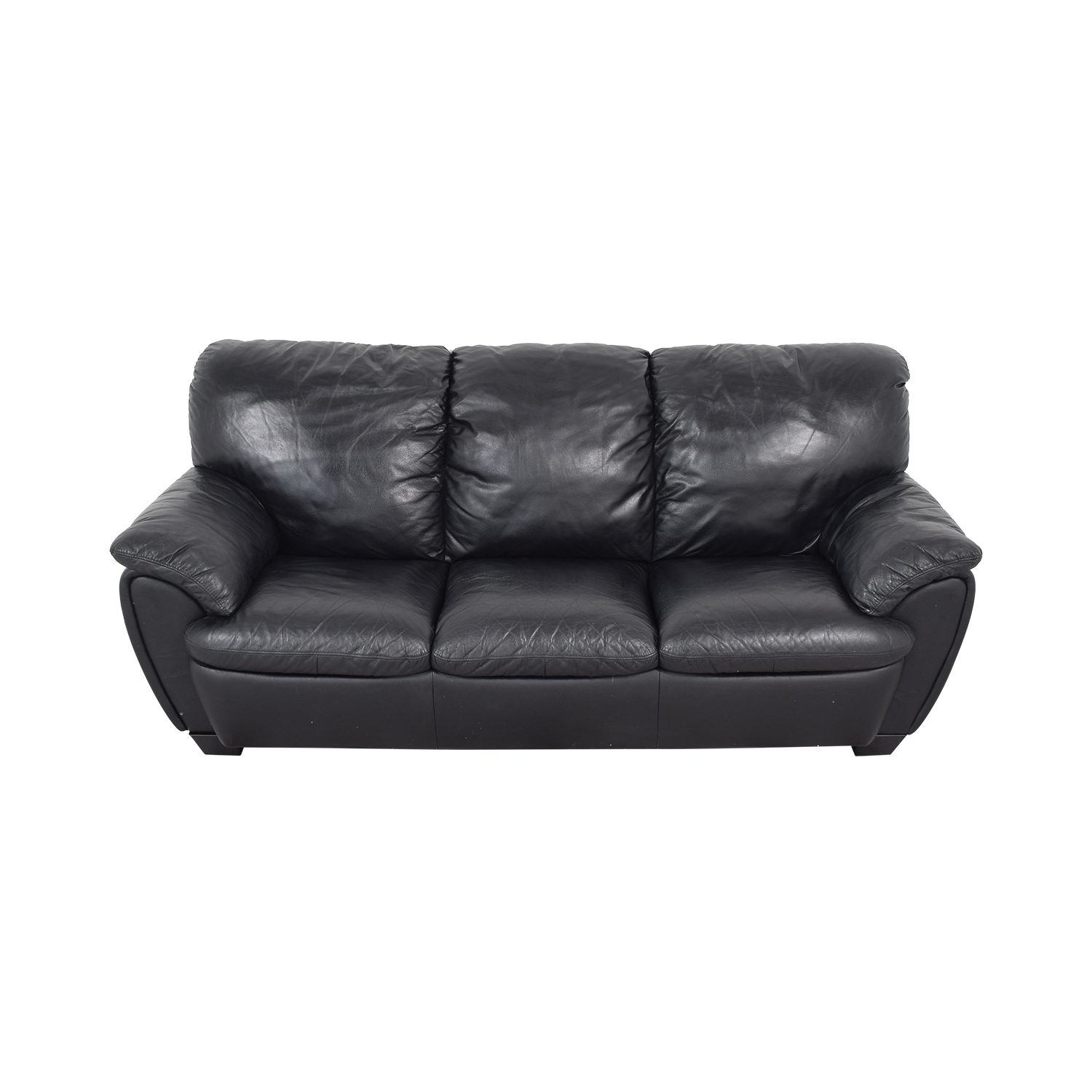 Broyhill Leather Sofa and Ottoman sale