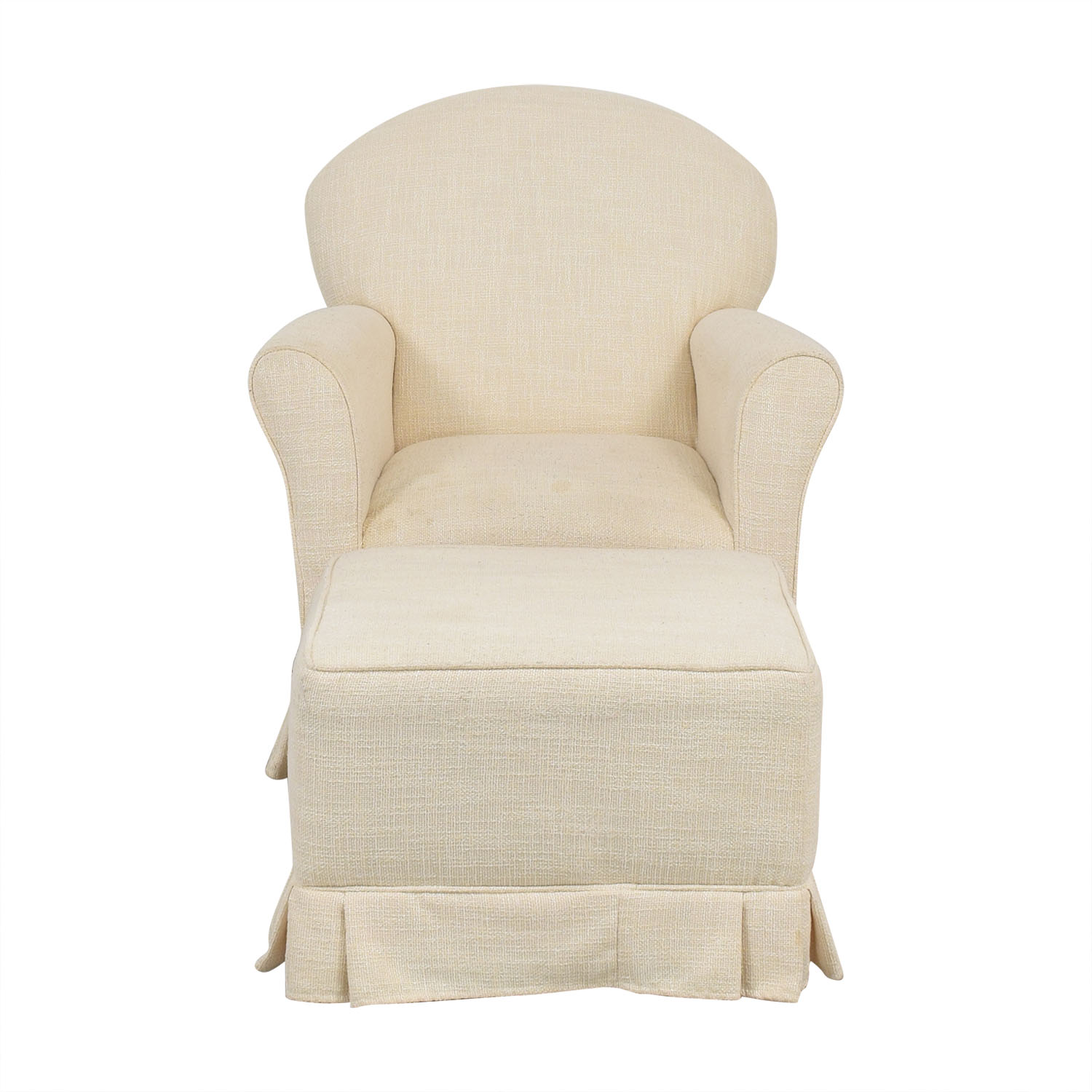 Little Castle Furniture Little Castle Furniture Glider Chair and Ottoman beige