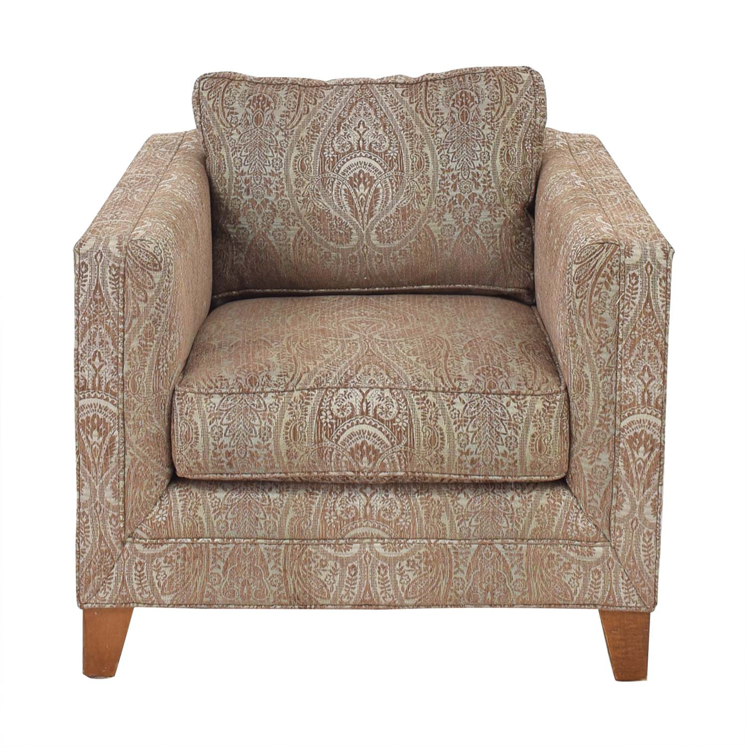 Crate & Barrel Crate & Barrel by Mitchell Gold + Bob Williams Paisley Print Club Chair multi