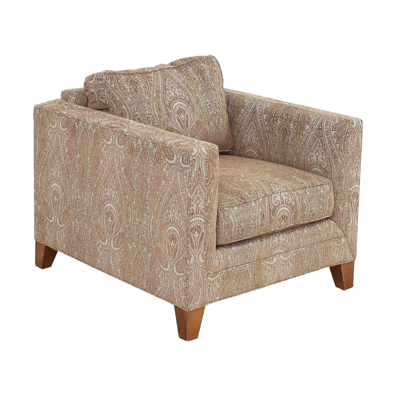 Crate & Barrel Crate & Barrel by Mitchell Gold + Bob Williams Paisley Print Club Chair Accent Chairs