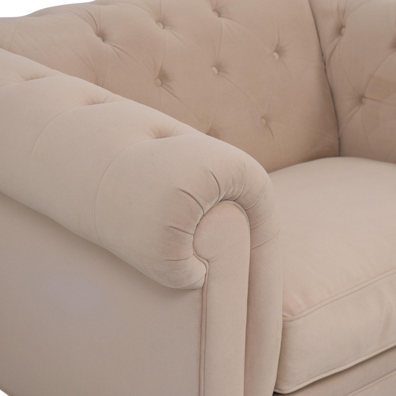 Macy's Macy's Martha Stewart Collection Fabric Armchair on sale
