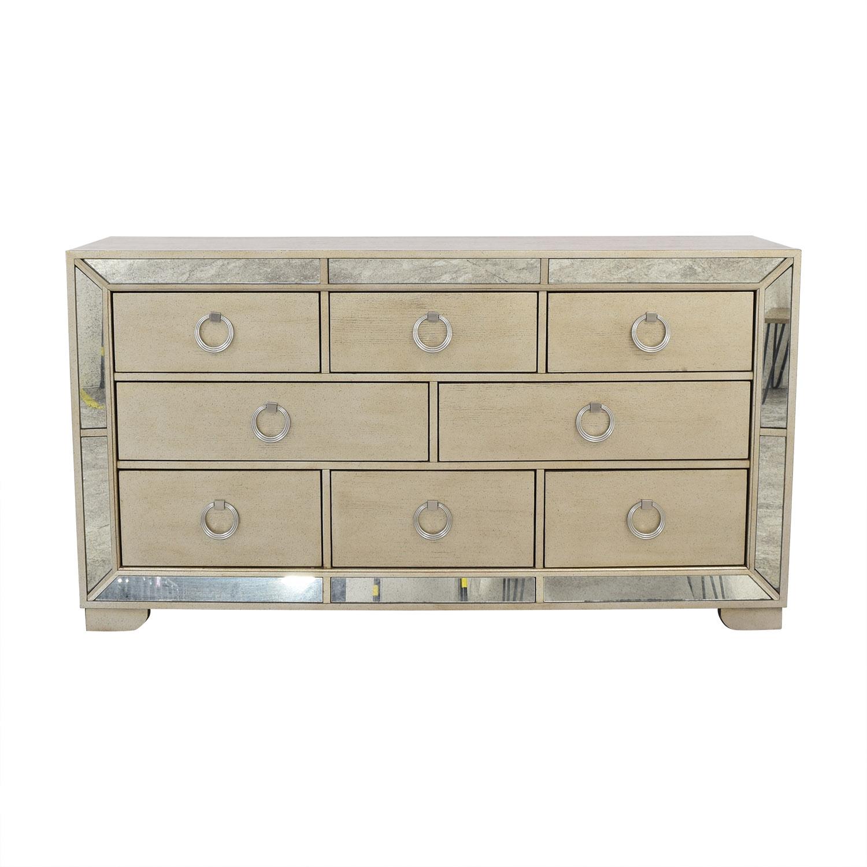 Macy's Macy's Ailey Eight Drawer Dresser grey
