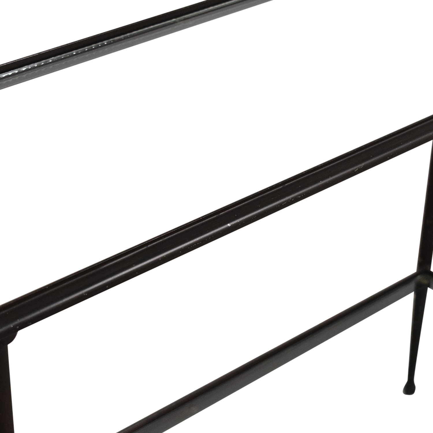 buy Crate & Barrel Glass and Iron Console Table Crate & Barrel Accent Tables