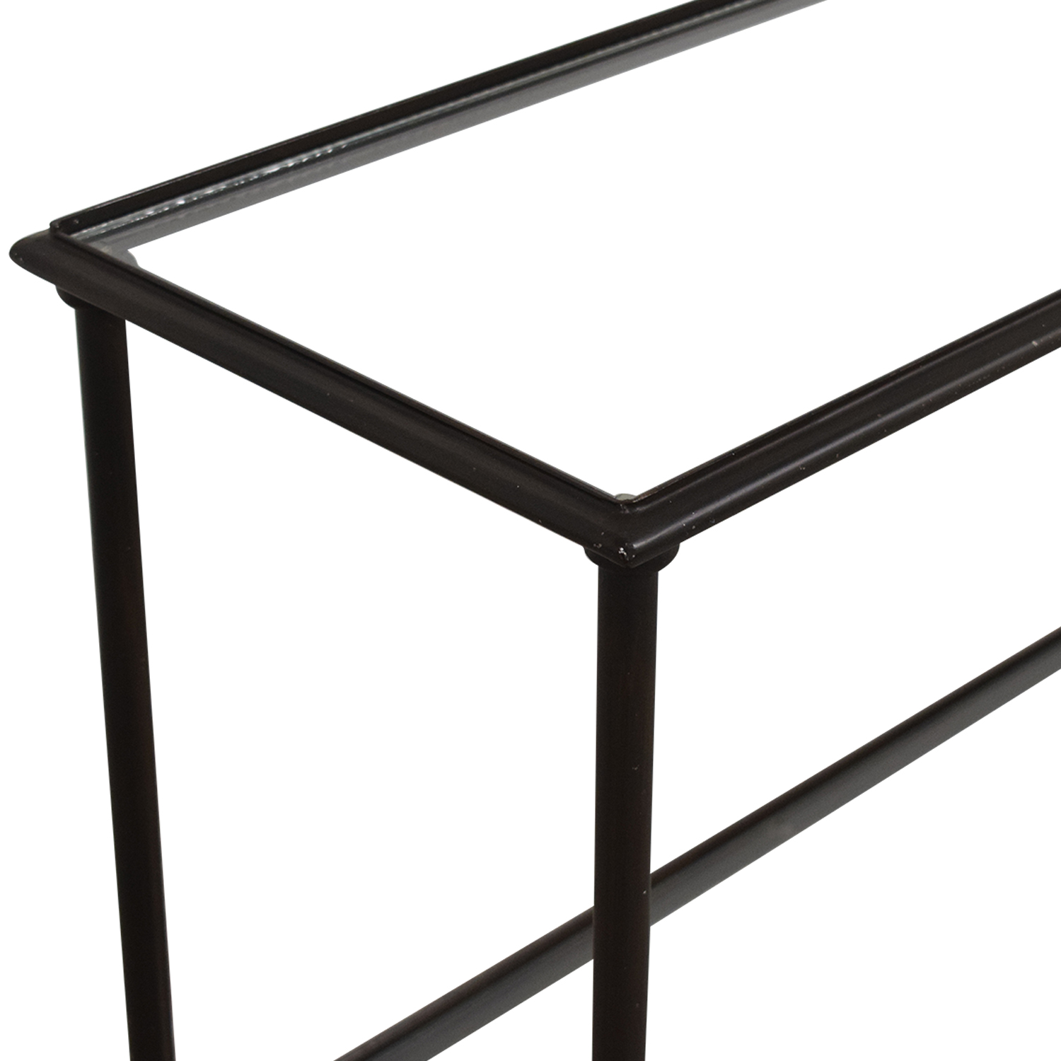 Crate & Barrel Crate & Barrel Glass and Iron Console Table