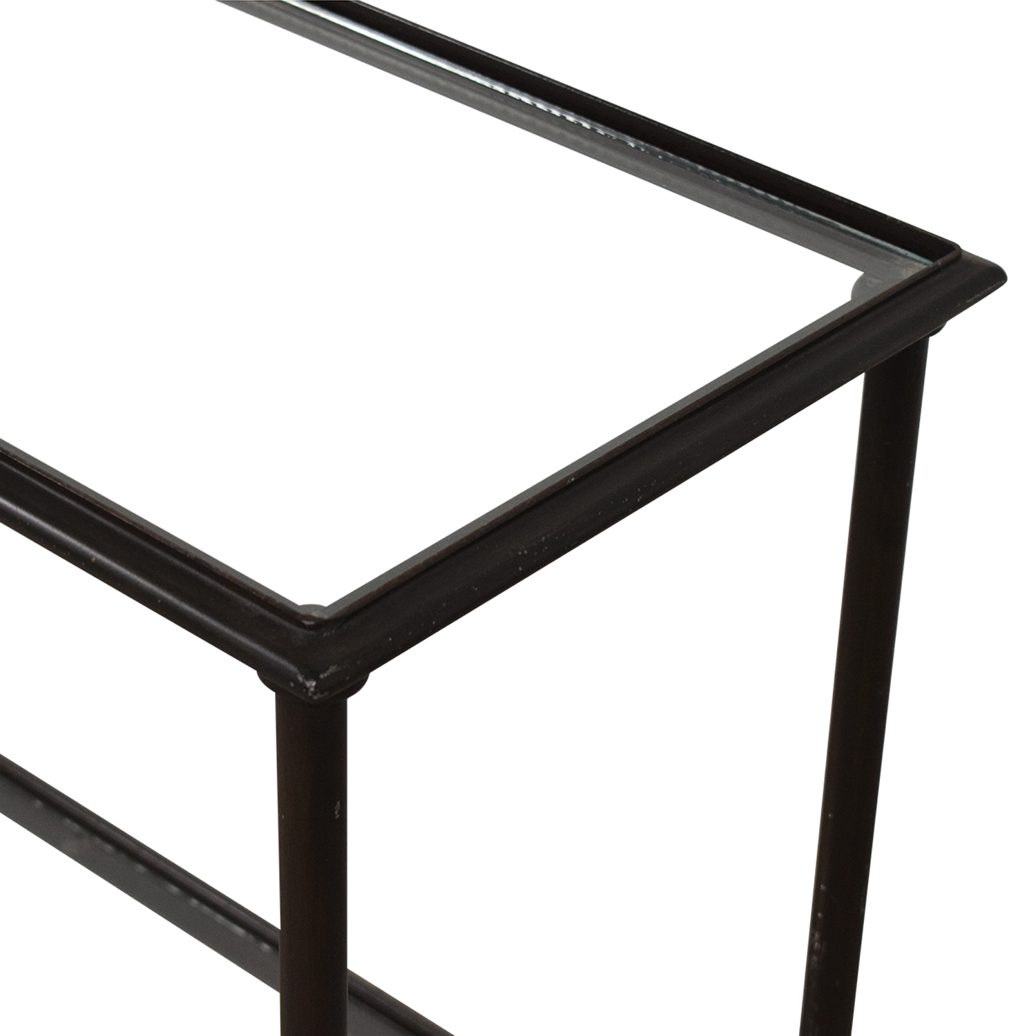 Crate & Barrel Crate & Barrel Glass and Iron Console Table used