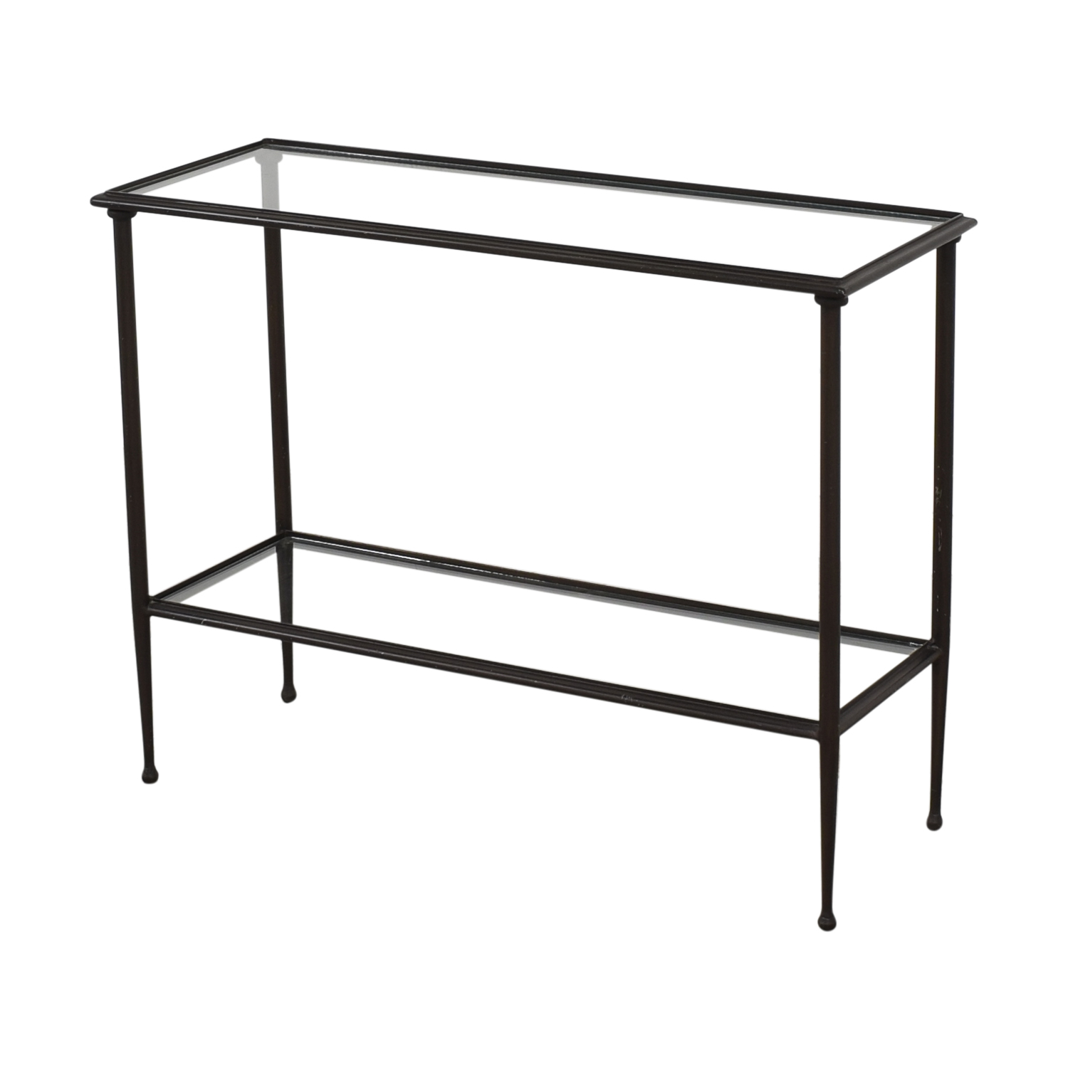 shop Crate & Barrel Glass and Iron Console Table Crate & Barrel Accent Tables