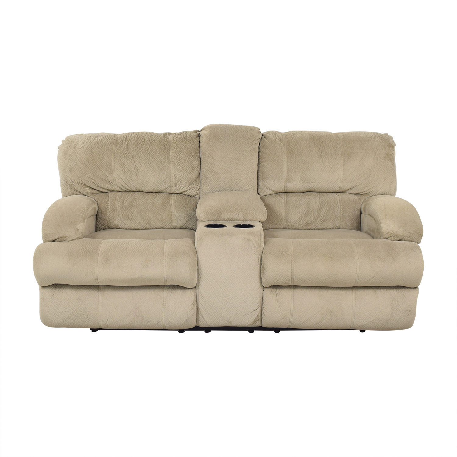 Raymour & Flanigan Raymour & Flanigan Microfiber 2-Seat Manual Recliner discount