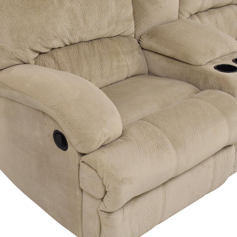 buy Raymour & Flanigan Microfiber 2-Seat Manual Recliner Raymour & Flanigan Classic Sofas