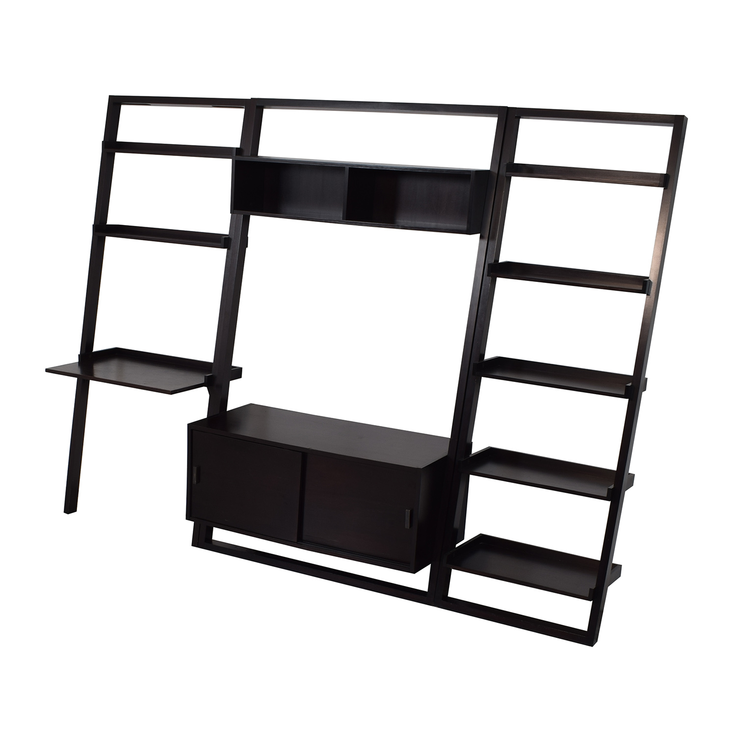 Crate & Barrel Sloane Leaning Bookcase / Storage