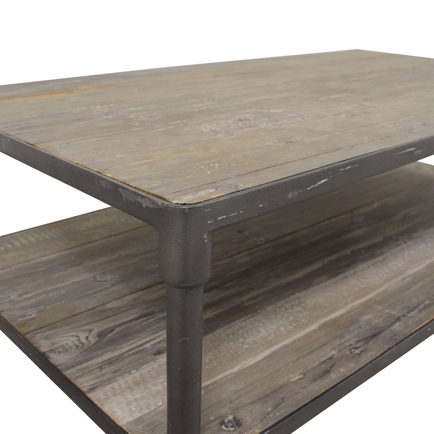 ABC Carpet & Home ABC Carpet & Home Industrial Rolling Two Tier Coffee Table for sale