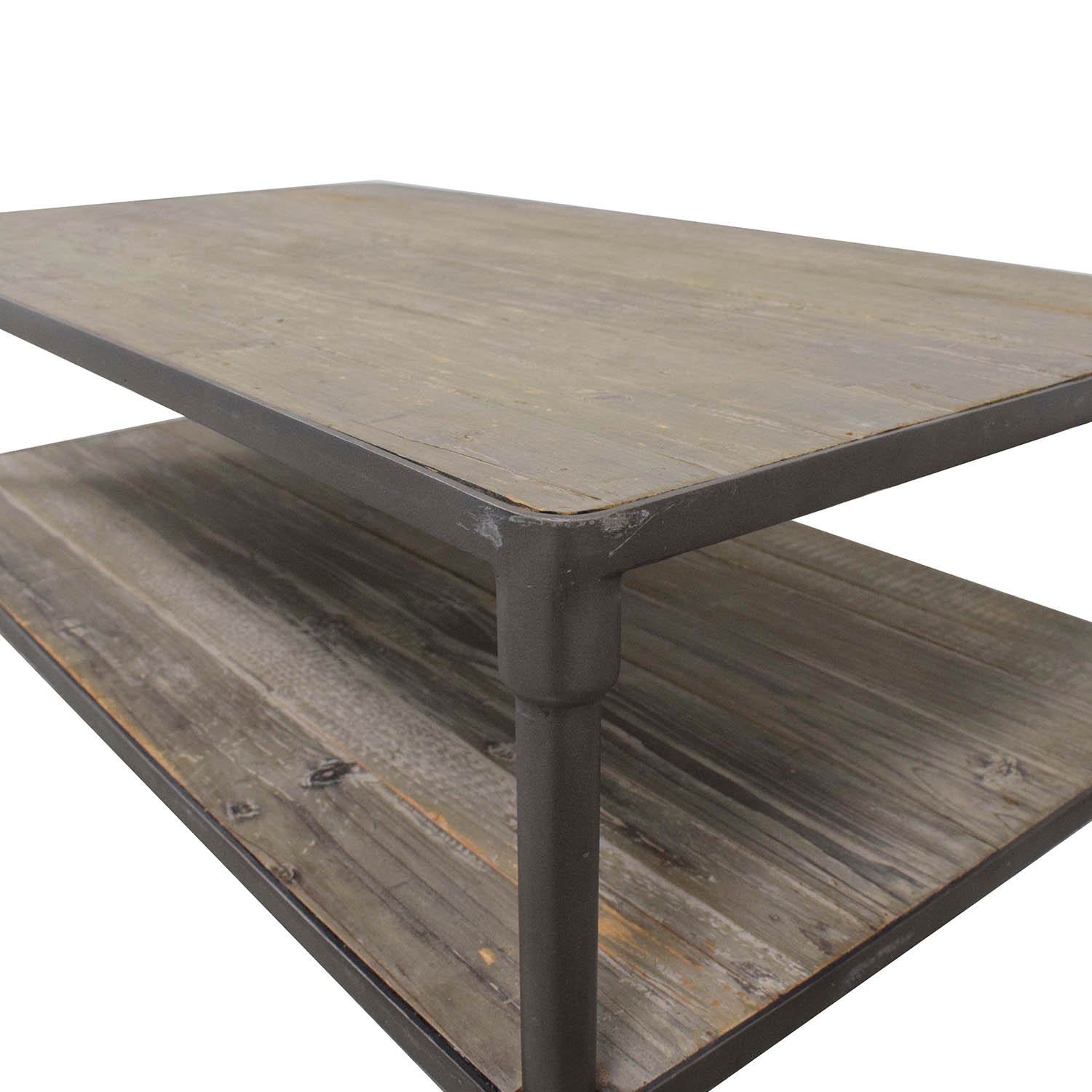 ABC Carpet & Home ABC Carpet & Home Industrial Rolling Two Tier Coffee Table used