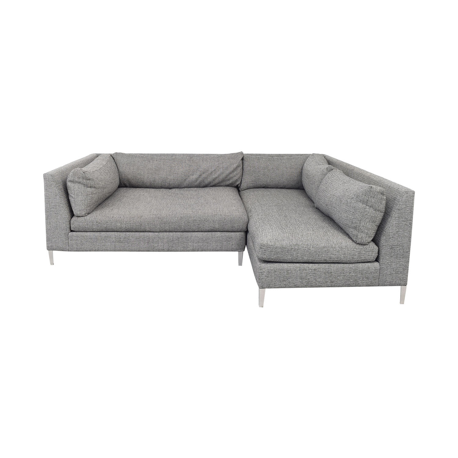 CB2 CB2 Two Piece Sectional Sofa with Chaise on sale