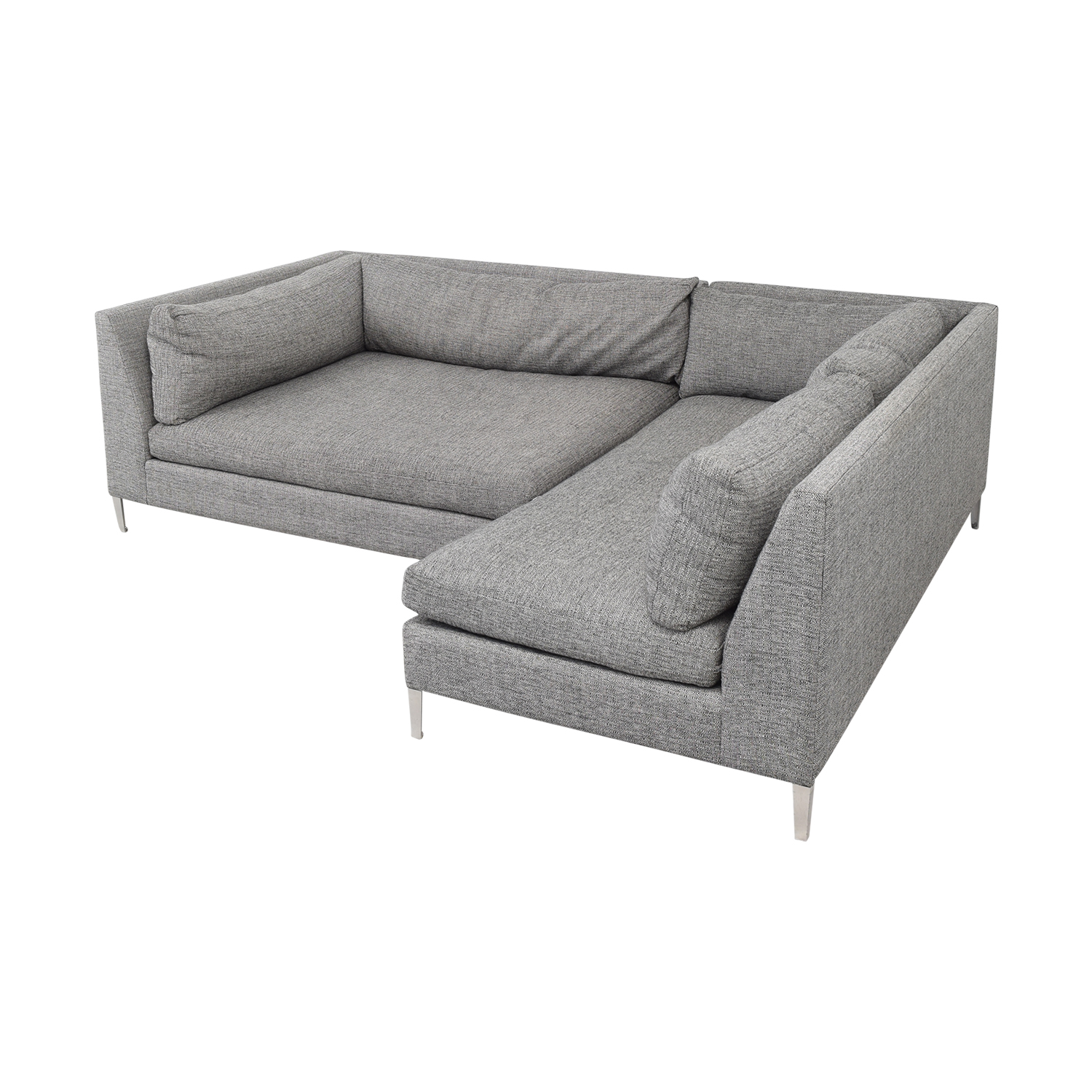 CB2 CB2 Two Piece Sectional Sofa with Chaise Sofas