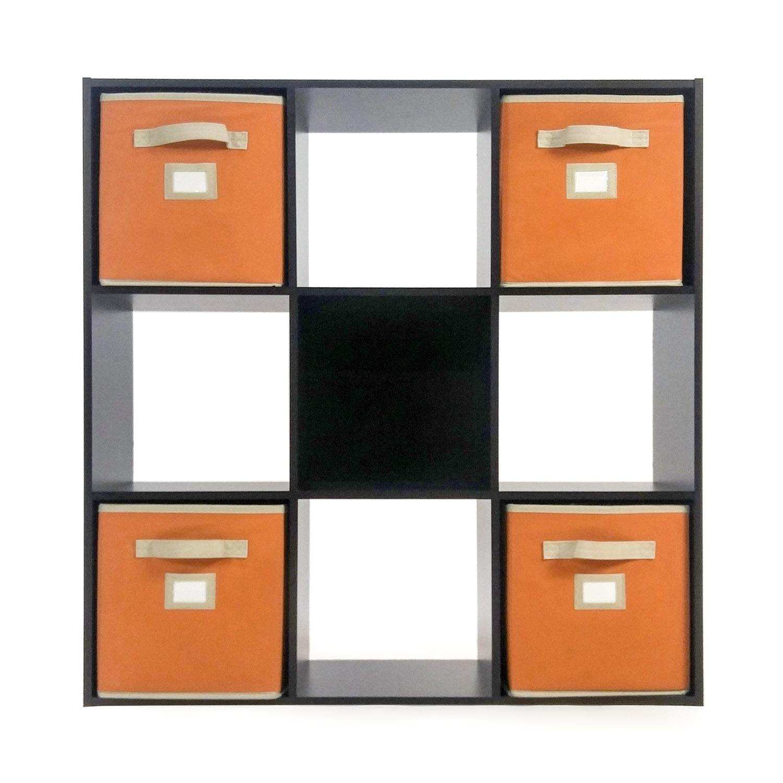 buy Book Shelf with 4 Canvas Baskets IKEA Storage