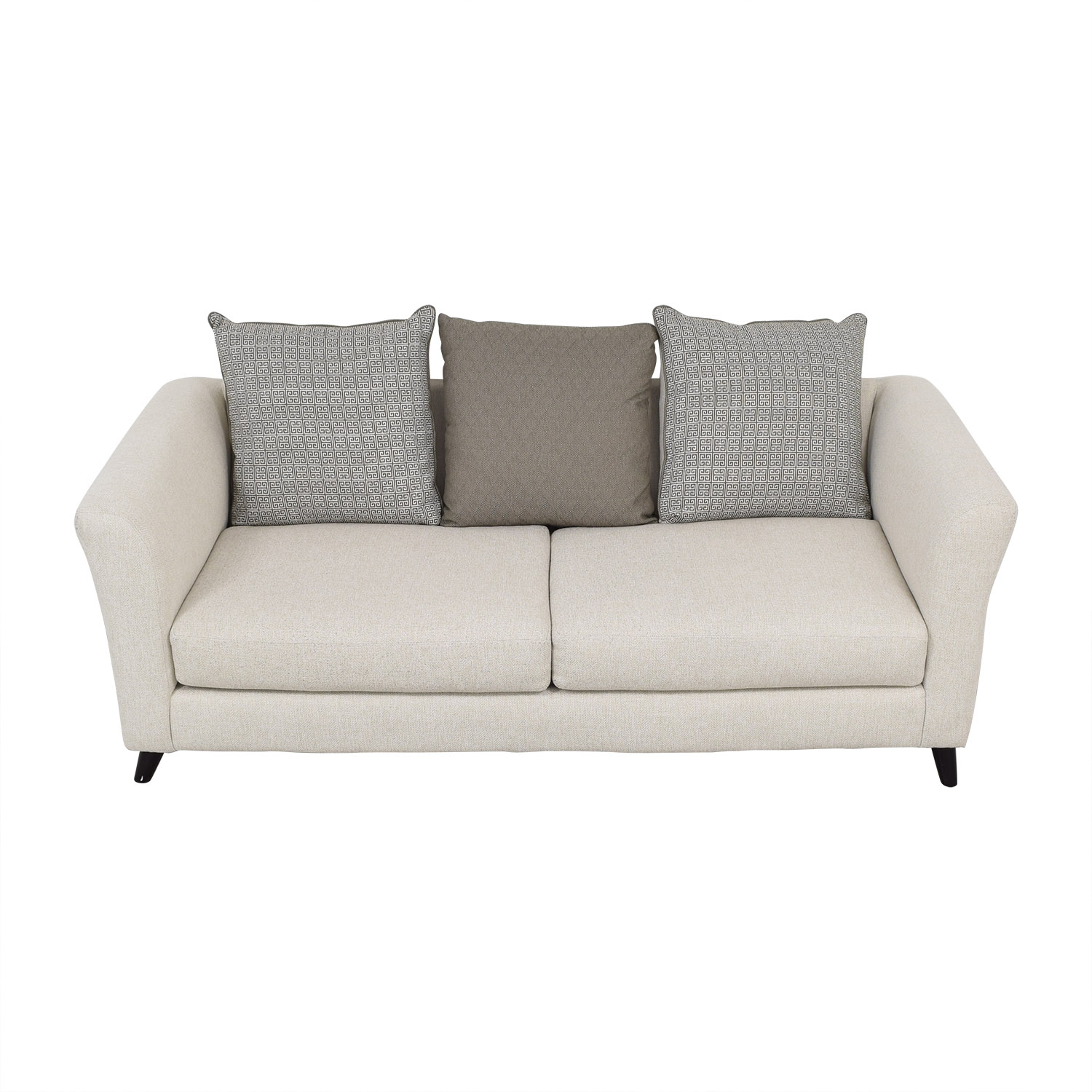 Raymour & Flanigan Raymour & Flanigan Sofa with Pillows dimensions
