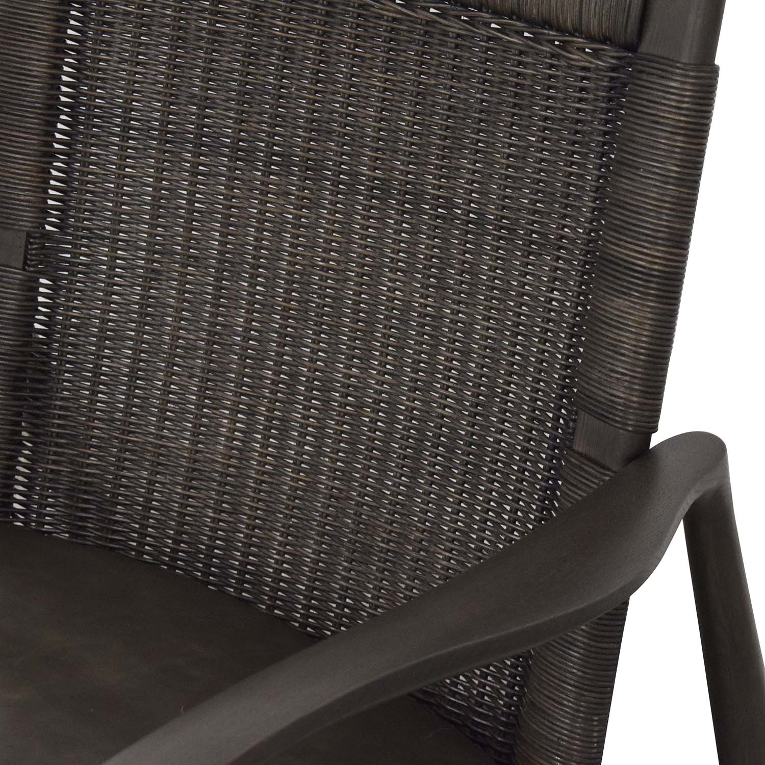 buy Crate & Barrel Sebago Midcentury Rattan Chair with Leather Cushion Crate & Barrel Chairs