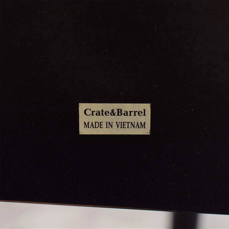 Crate & Barrel Crate & Barrel Black Distressed Night Stand black