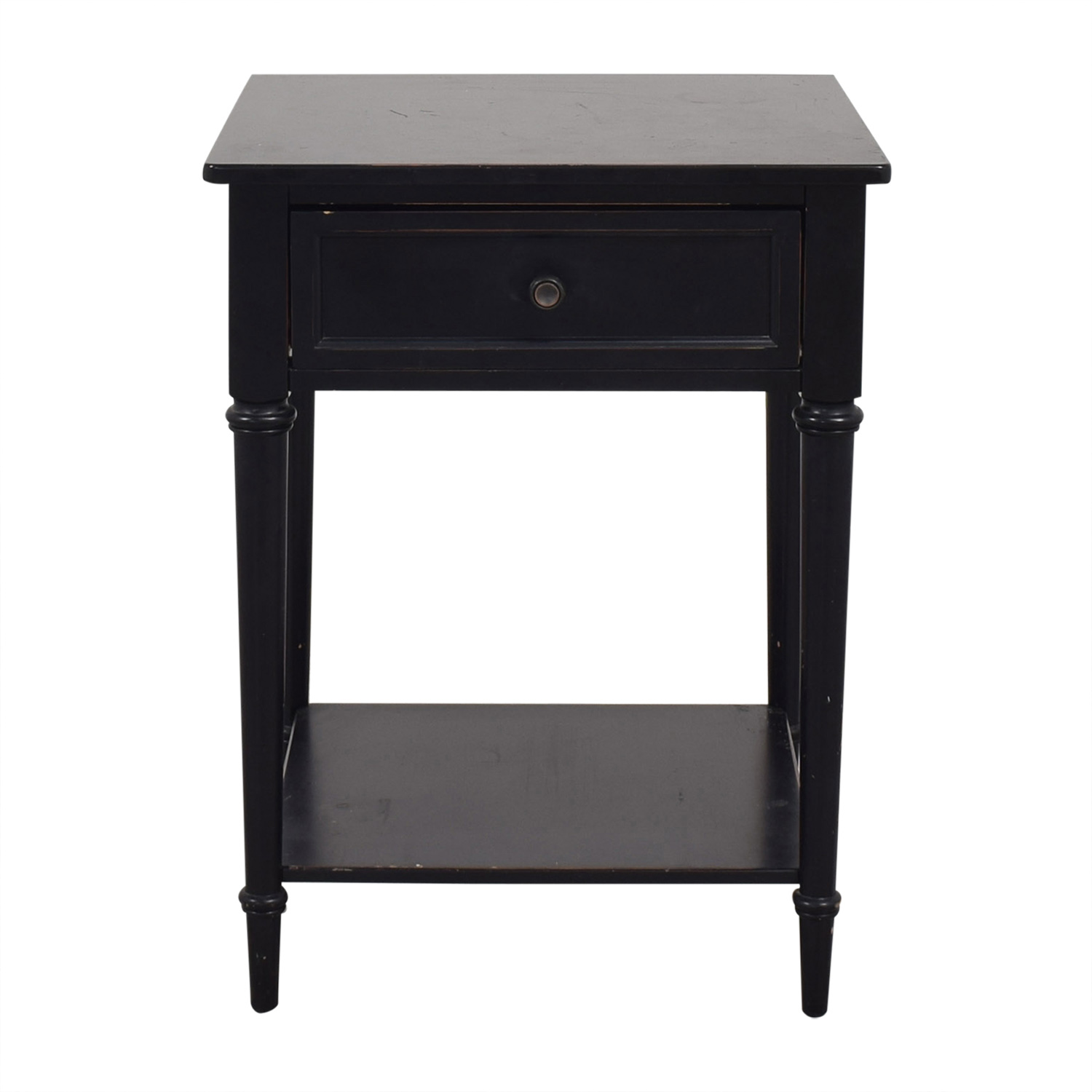 Crate & Barrel Crate & Barrel Black Distressed Night Stand second hand