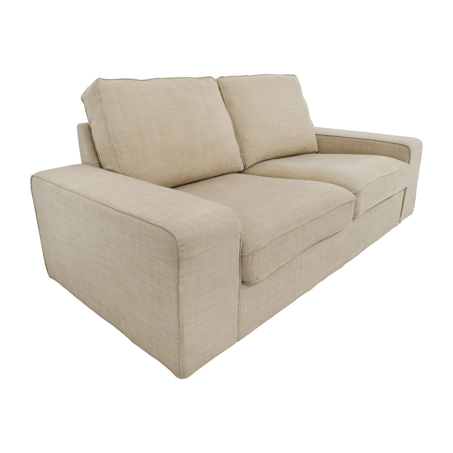 68 Off Ikea Light Beige Fabric Loveseat Sofas