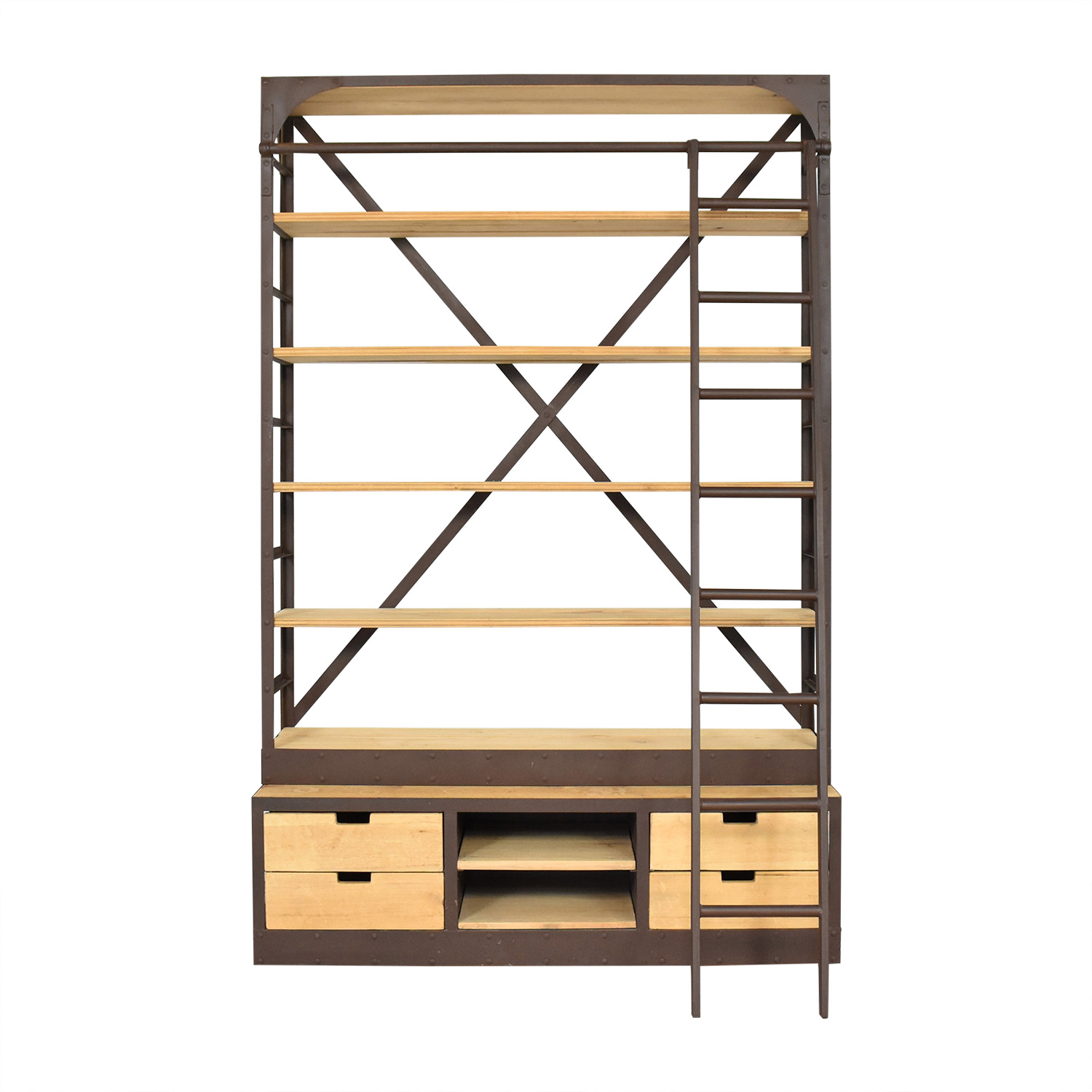 Restoration Hardware 1950s Dutch Shipyard Triple Shelving / Storage