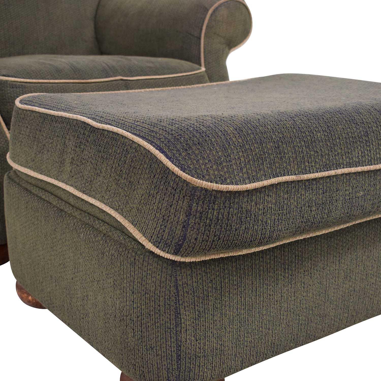 La-Z-Boy La-Z-Boy Rolled Arm Accent Chair with Ottoman ma
