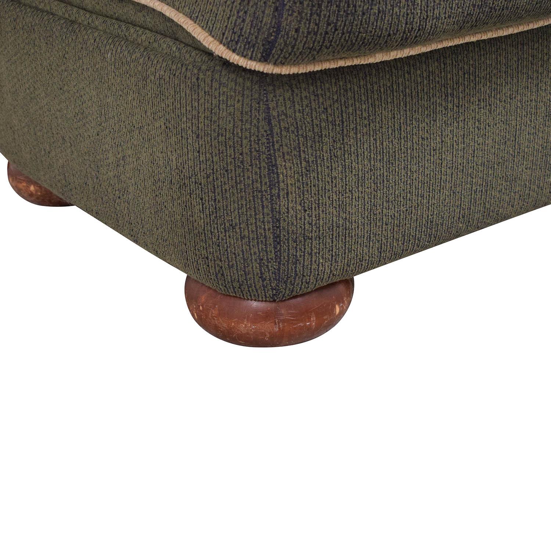 shop La-Z-Boy Rolled Arm Accent Chair with Ottoman La-Z-Boy