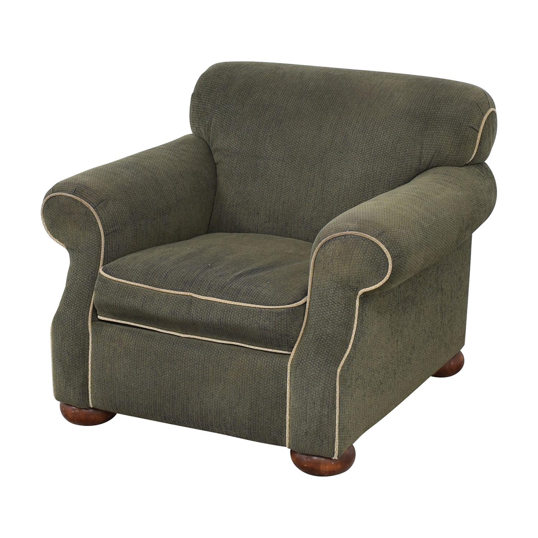 shop La-Z-Boy Rolled Arm Accent Chair with Ottoman La-Z-Boy Accent Chairs