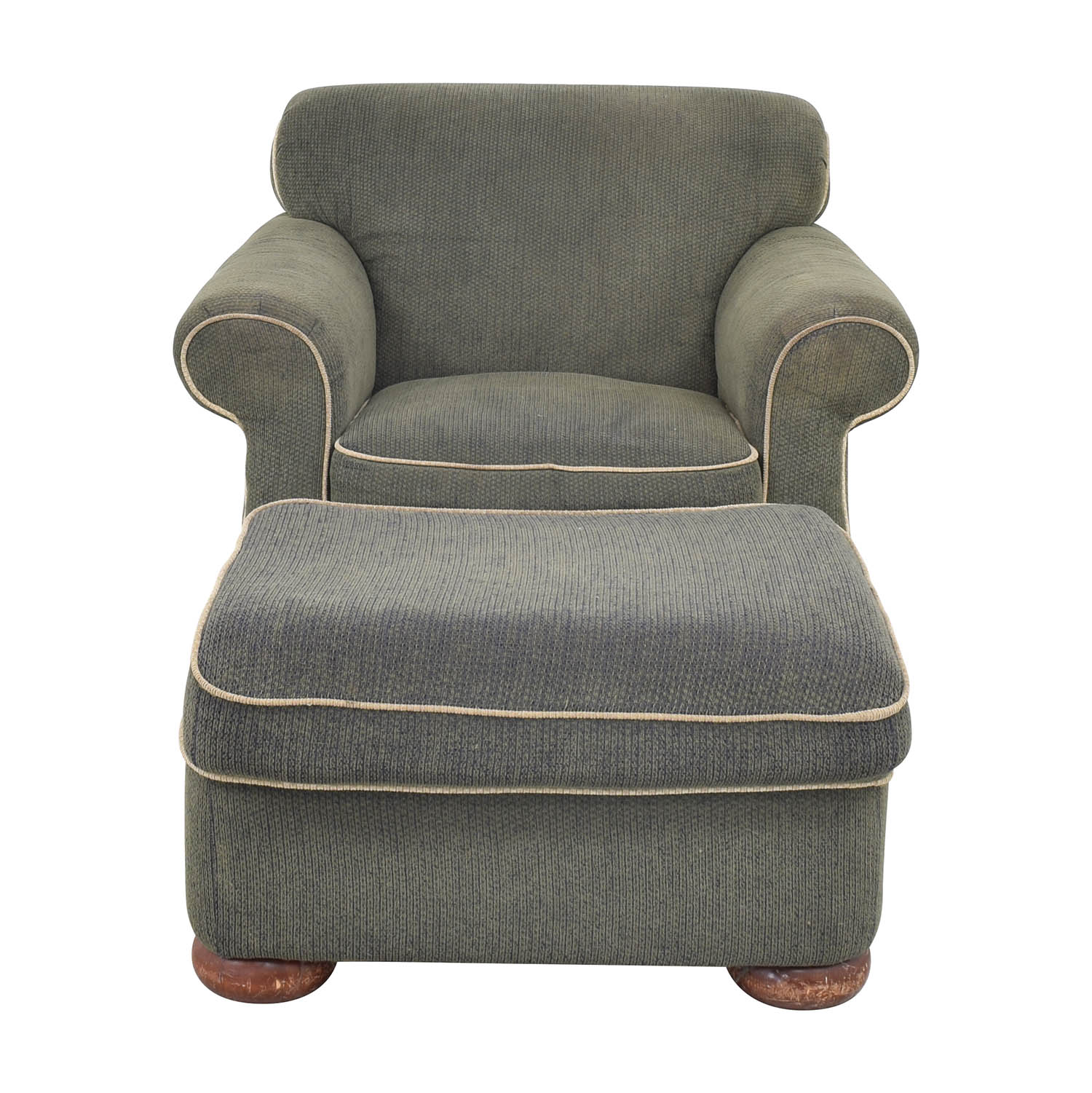 La-Z-Boy La-Z-Boy Rolled Arm Accent Chair with Ottoman ct