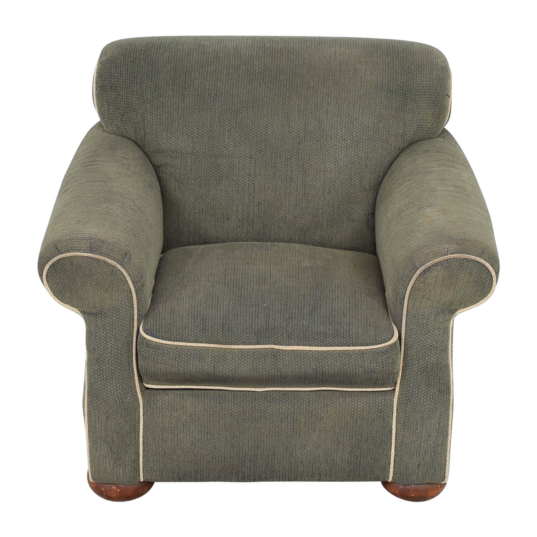 La-Z-Boy La-Z-Boy Rolled Arm Accent Chair with Ottoman nj