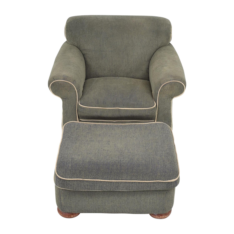 La-Z-Boy La-Z-Boy Rolled Arm Accent Chair with Ottoman discount