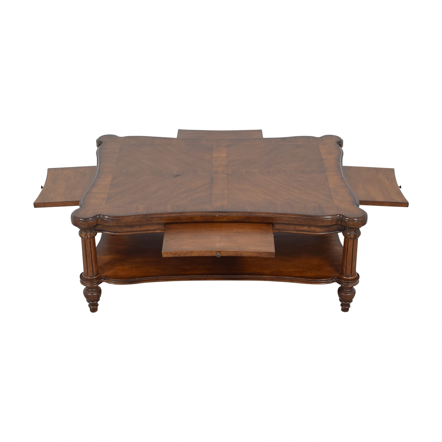 Ethan Allen Ethan Allen Coffee Table with Trays dimensions