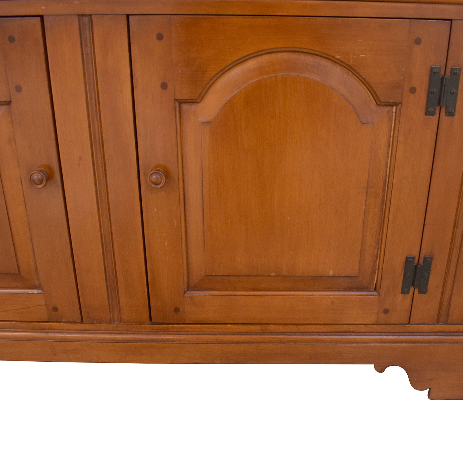 Whitney Whitney Antique China Cabinet with Open Hutch brown