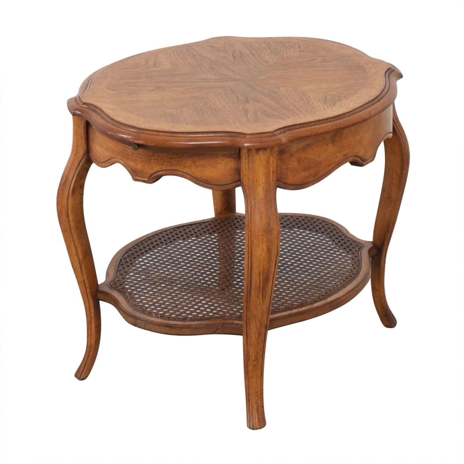 Vintage End Table with Pull Out Tray ct