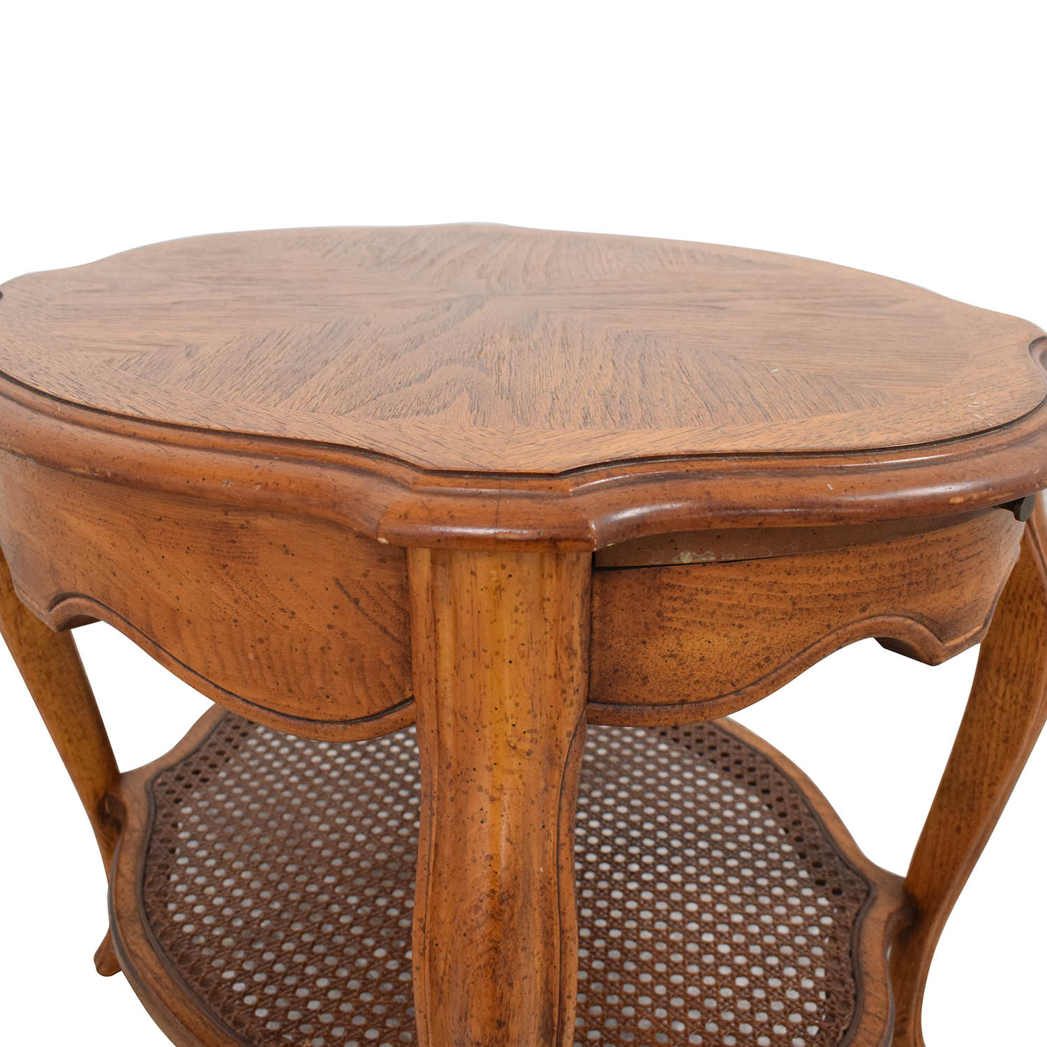 Vintage End Table with Pull Out Tray second hand