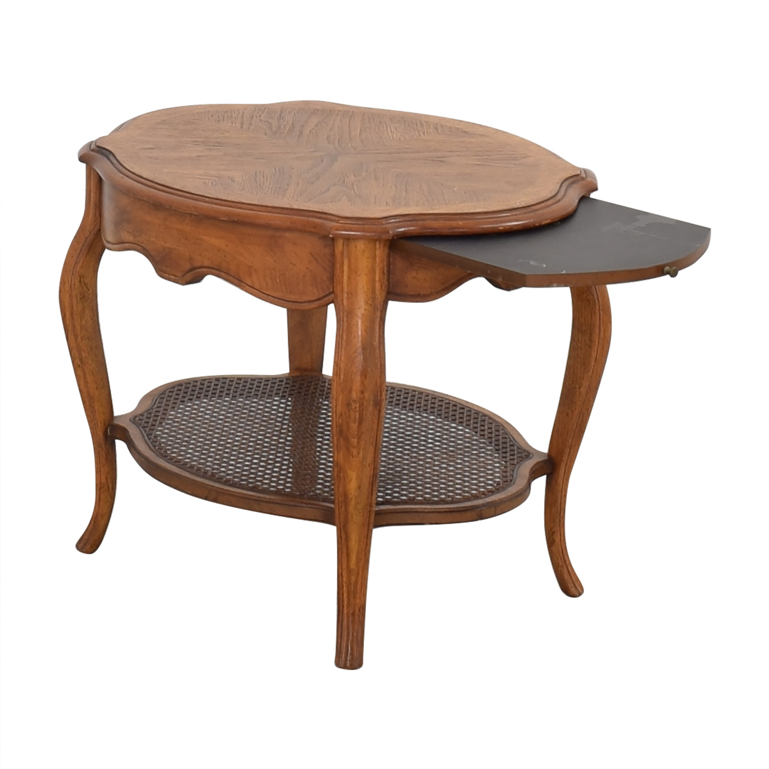 Vintage End Table with Pull Out Tray pa
