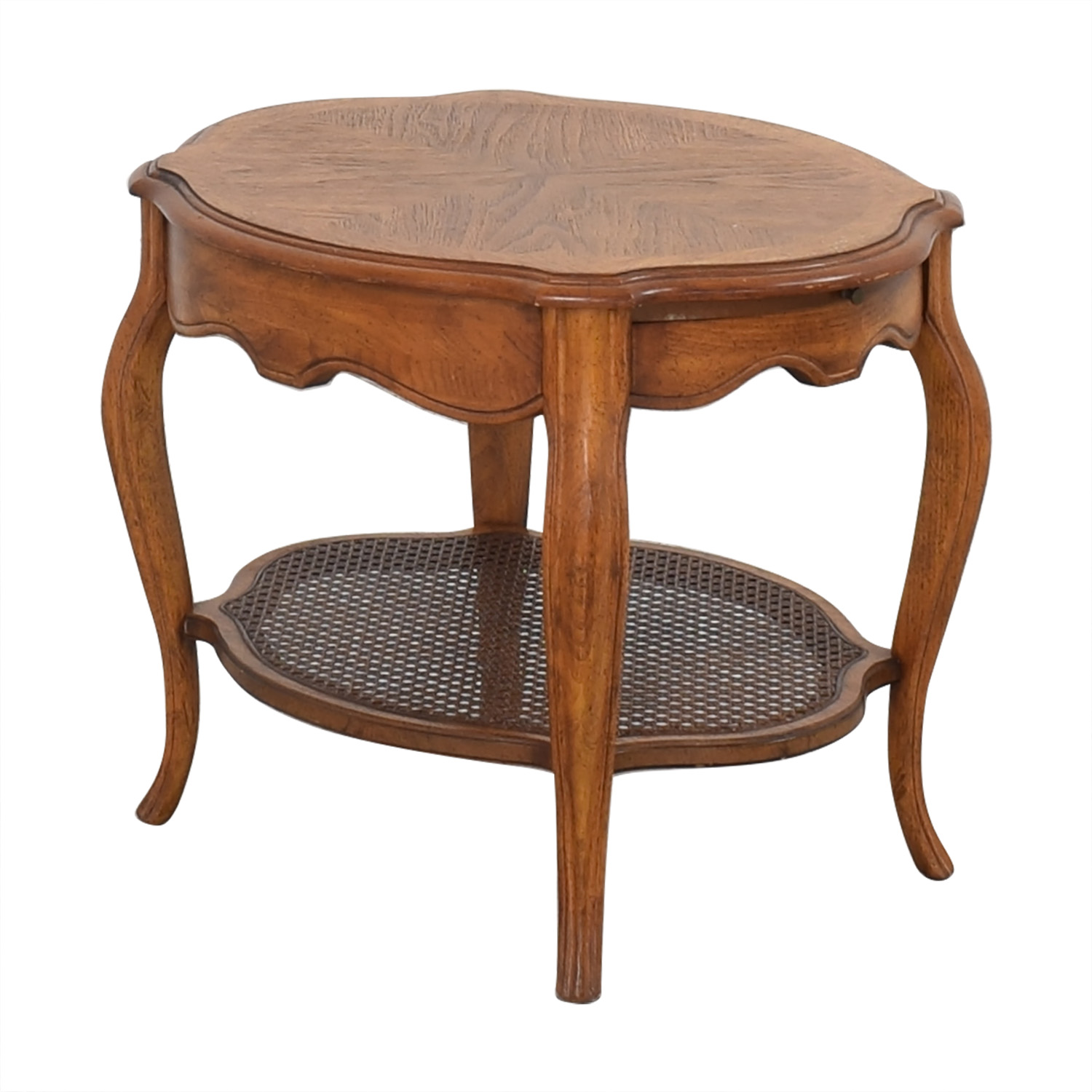 Vintage End Table with Pull Out Tray on sale
