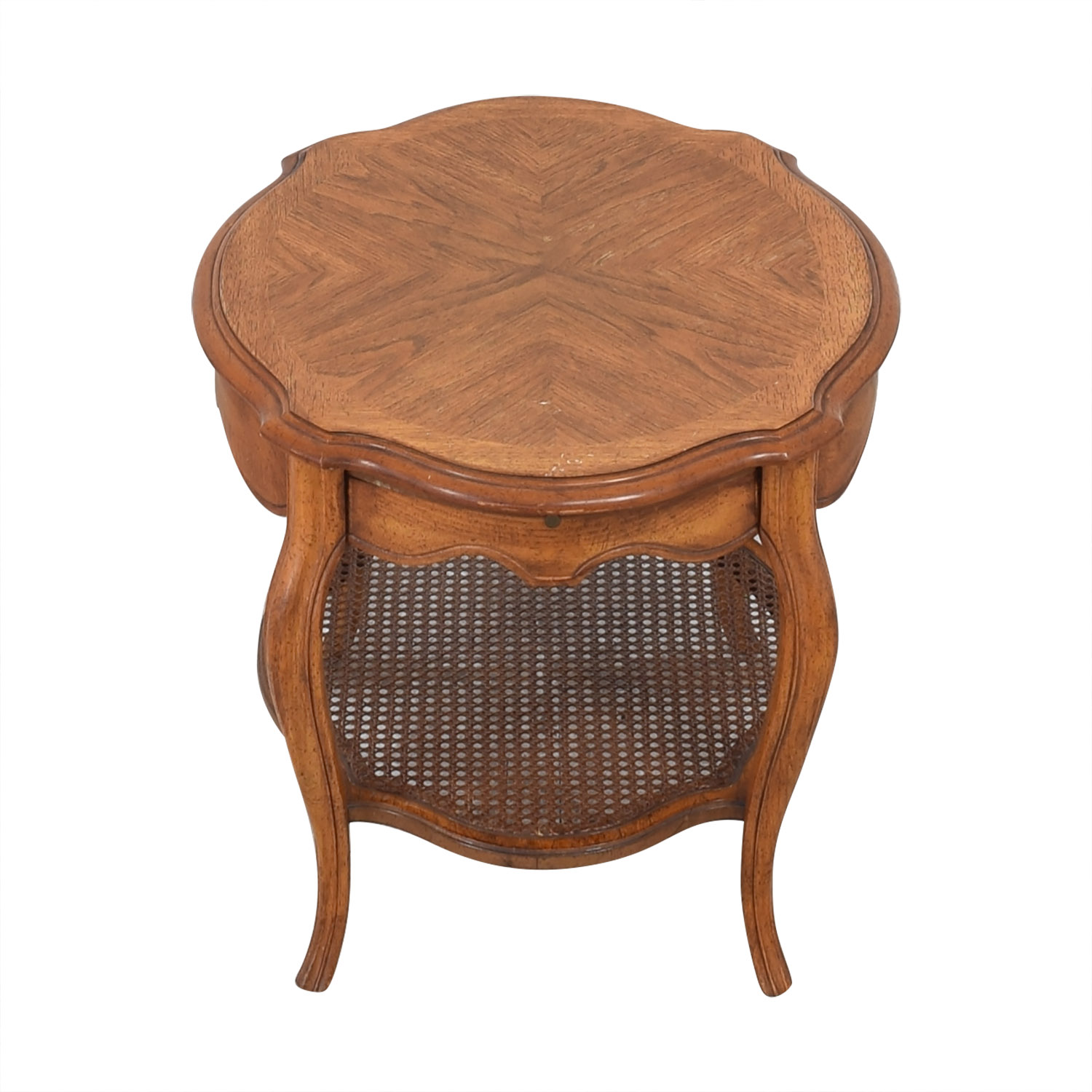 Vintage End Table with Pull Out Tray