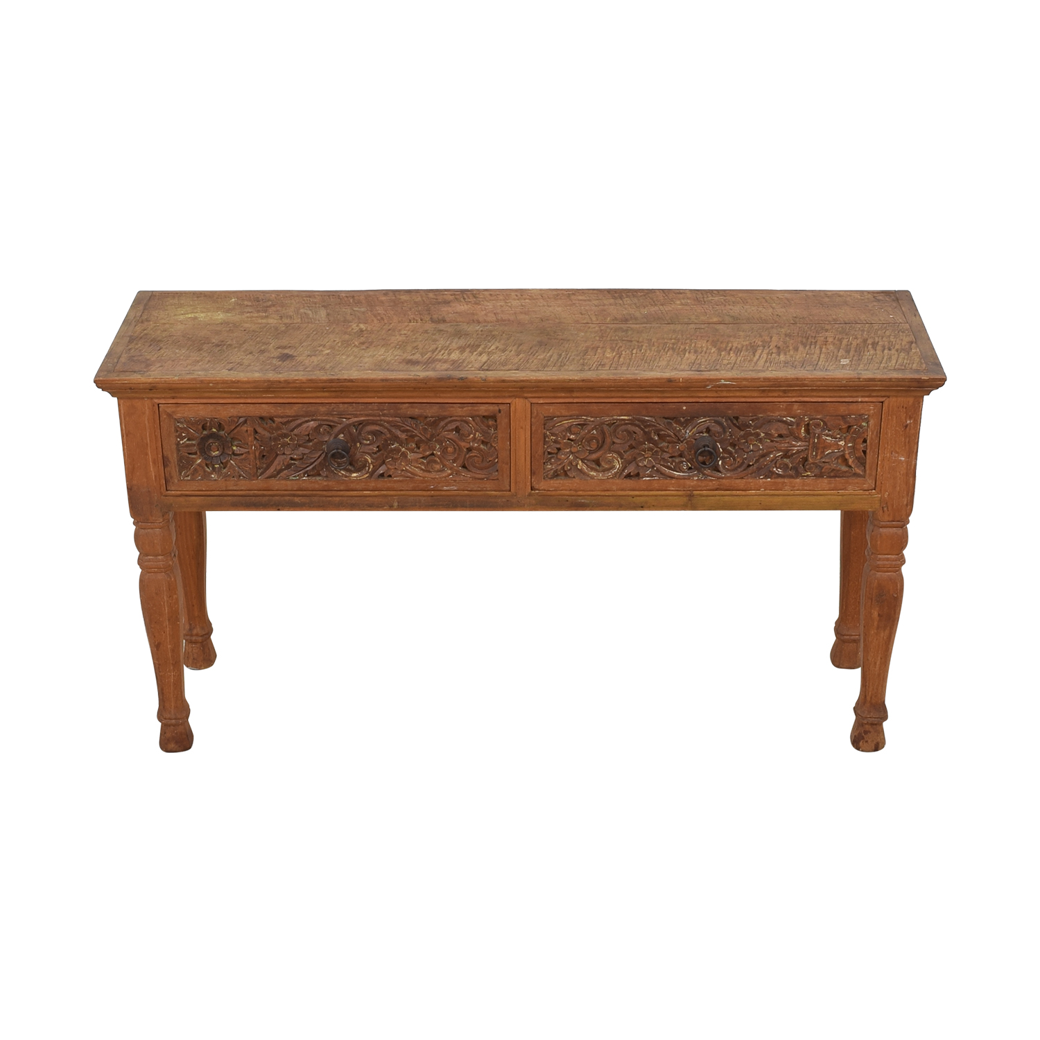 ABC Carpet & Home ABC Carpet & Home Carved Indonesian Style Console Table nyc