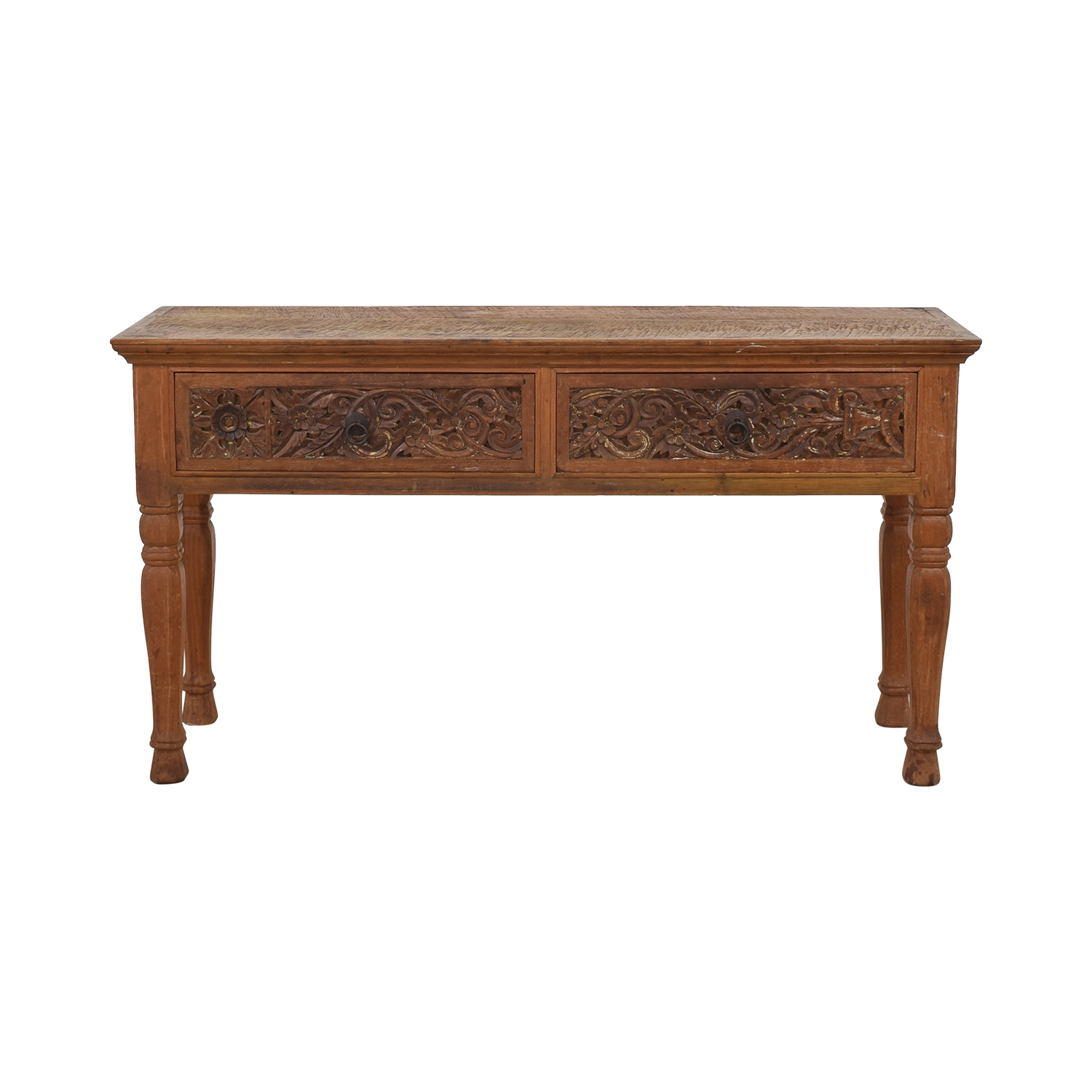 ABC Carpet & Home Carved Indonesian Style Console Table ABC Carpet & Home