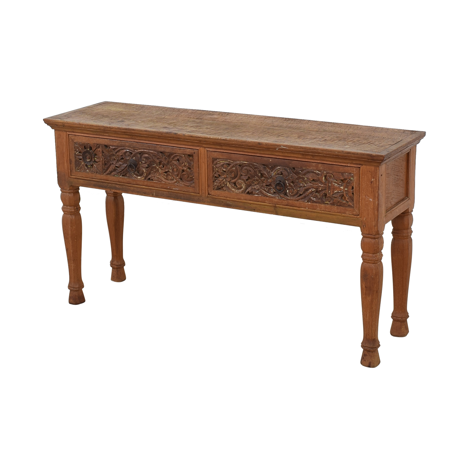 ABC Carpet & Home ABC Carpet & Home Carved Indonesian Style Console Table pa