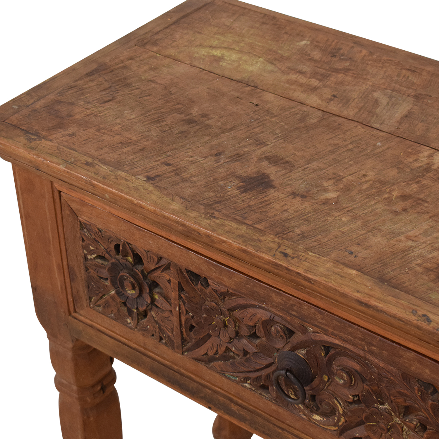 ABC Carpet & Home ABC Carpet & Home Carved Indonesian Style Console Table brown