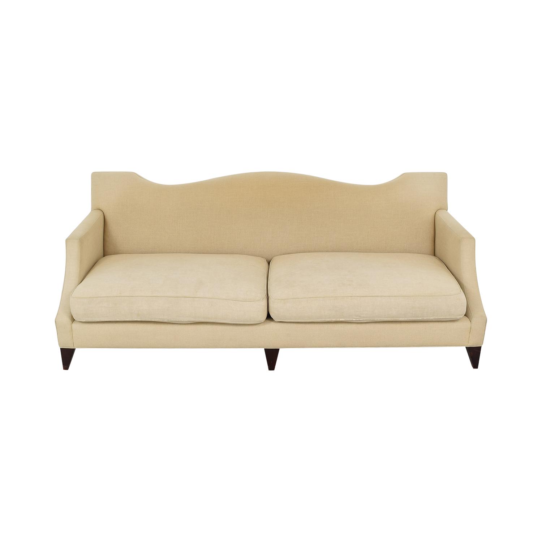 Baker Furniture Two Cushion Camelback Sofa / Classic Sofas