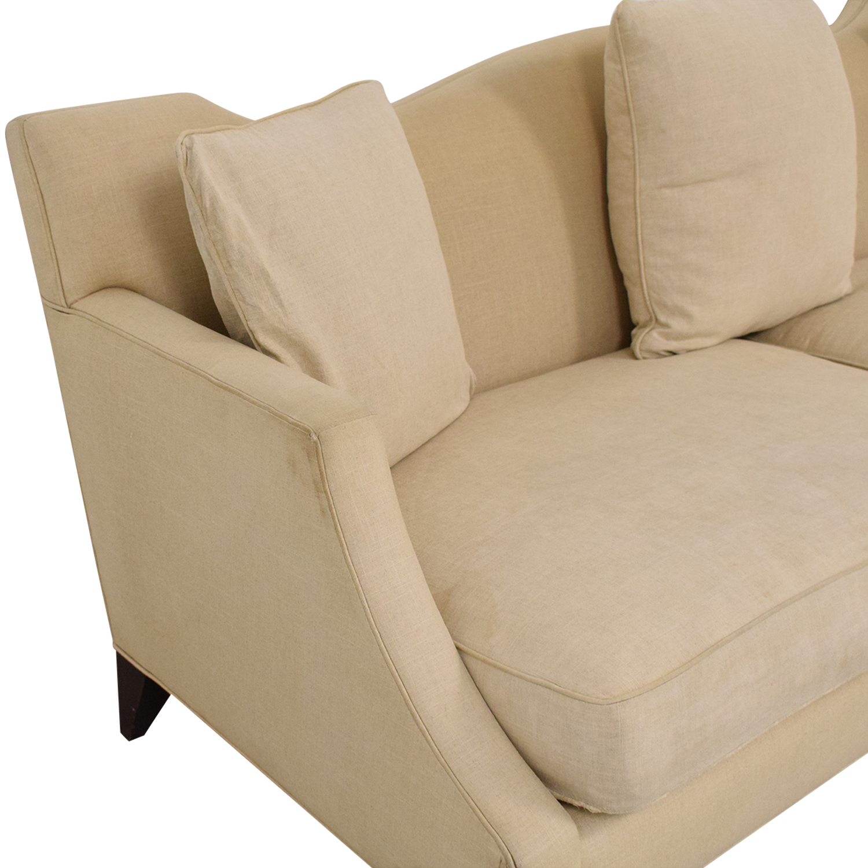 Baker Furniture Baker Furniture Two Cushion Camelback Sofa ma
