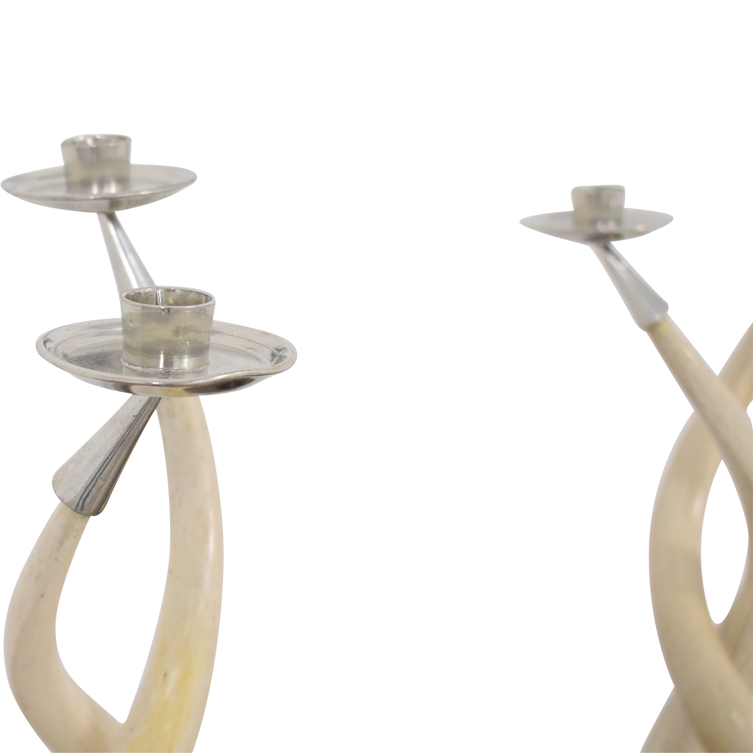 Twisted Horn Candlesticks